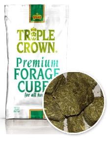 Triple Crown Premium Forage Cubes For Horse Feeding Supplementation 50 lbs