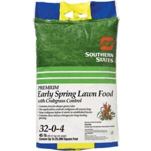 Southern States Early Spring Lawn Food with Crabgrass Control 32-0-4